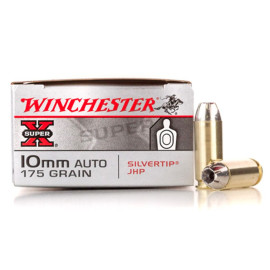 Image For 20 Rounds Of 175 Grain JHP Boxer Brass 10mm Winchester Ammunition