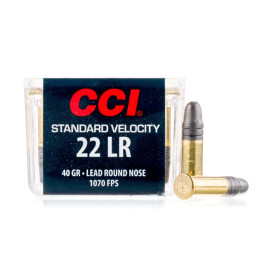 Image For 100 Rounds Of 40 Grain LRN Rimfire Brass 22 LR CCI Ammunition