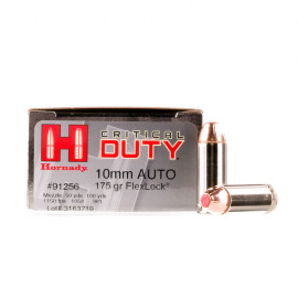 Image For 20 Rounds Of 175 Grain JHP Boxer Nickel-Plated Brass 10mm Hornady Ammunition