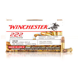 Image For 2220 Rounds Of 36 Grain CPHP Rimfire Brass 22 LR Winchester Ammunition