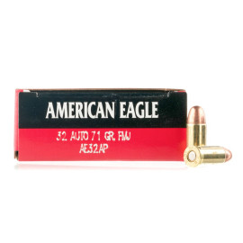 Image For 50 Rounds Of 71 Grain FMJ Boxer Brass 32 ACP Federal Ammunition