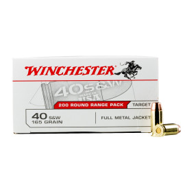 Image For 600 Rounds Of 165 Grain FMJ Boxer Brass 40 Cal Winchester Ammunition