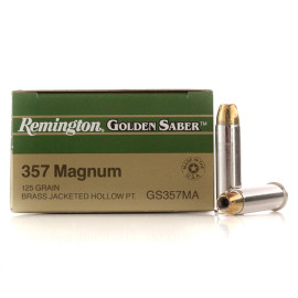 Image For 500 Rounds Of 125 Grain JHP Boxer Nickel-Plated Brass 357 Magnum Remington Ammunition