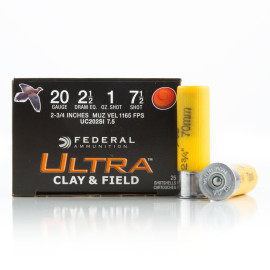 Image For 250 Rounds Of 1 oz. #7-1/2 Shot 20 Gauge Federal Ammunition