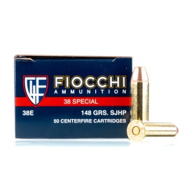 Image For 50 Rounds Of 148 Grain SJHP Boxer Brass 38 Special Fiocchi Ammunition