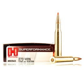 Image For 20 Rounds Of 130 Grain SST Boxer Brass 270 Win Hornady Ammunition