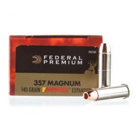 Image For 20 Rounds Of 140 Grain JHP Boxer Nickel-Plated Brass 357 Magnum Federal Ammunition