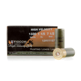 Image For 25 Rounds Of 1-1/5 oz. #7-1/2 Shot 12 Gauge Fiocchi Ammunition