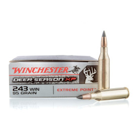 Image For 20 Rounds Of 95 Grain Polymer Tipped Boxer Brass 243 Win Winchester Ammunition