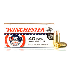 Image For 500 Rounds Of 180 Grain FMJ Boxer Brass 40 Cal Winchester Ammunition