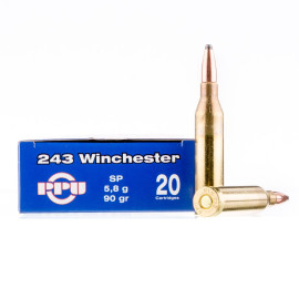 Image For 20 Rounds Of 90 Grain SP Boxer Brass 243 Win Prvi Partizan Ammunition