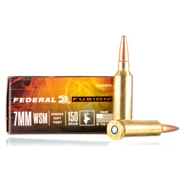 Image For 20 Rounds Of 150 Grain Fusion Boxer Brass 7mm Win Short Mag Federal Ammunition