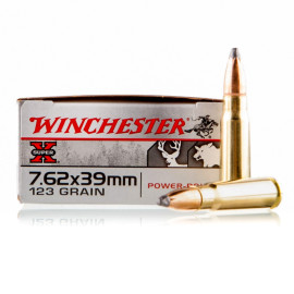 Image For 20 Rounds Of 123 Grain SP Boxer Brass 7.62x39 Winchester Ammunition