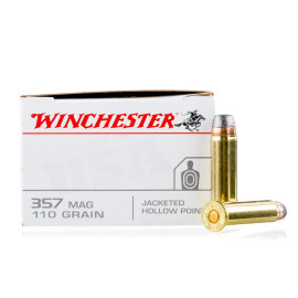 Image For 50 Rounds Of 110 Grain JHP Boxer Brass 357 Magnum Winchester Ammunition