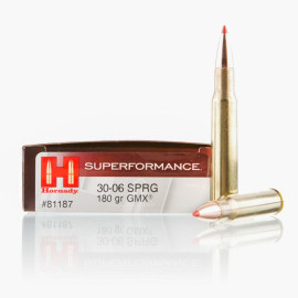 Image For 20 Rounds Of 180 Grain GMX Boxer Brass 30-06 Hornady Ammunition