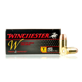 Image For 50 Rounds Of 230 Grain FMJ Boxer Brass 45 Auto Winchester Ammunition