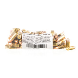 Image For 100 Rounds Of 124 Grain TMJ Boxer Brass 9mm MBI Ammunition