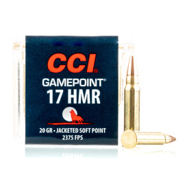 Image For 50 Rounds Of 20 Grain JSP Rimfire Brass 17 HMR CCI Ammunition