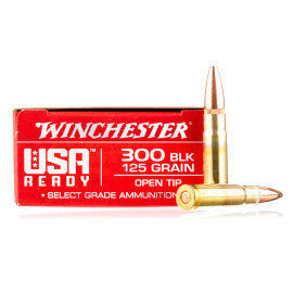Image For 20 Rounds Of 125 Grain Open Tip Boxer Brass 300 Blackout Winchester Ammunition