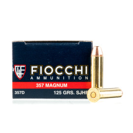 Image For 1000 Rounds Of 125 Grain SJHP Boxer Brass 357 Magnum Fiocchi Ammunition