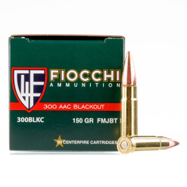 Image For 500 Rounds Of 150 Grain FMJ-BT Boxer Brass 300 Blackout Fiocchi Ammunition