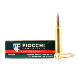 Image For 20 Rounds Of 150 Grain SST Boxer Brass 30-06 Fiocchi Ammunition