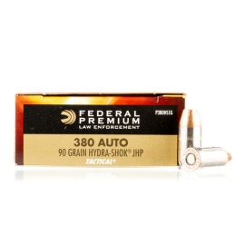 Image For 50 Rounds Of 90 Grain JHP Boxer Nickel-Plated Brass 380 ACP Federal Ammunition