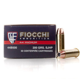 Image For 50 Rounds Of 200 Grain SJHP Boxer Brass 44 Magnum Fiocchi Ammunition