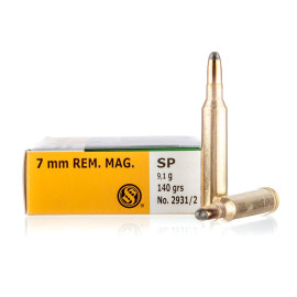 Image For 20 Rounds Of 140 Grain SP Boxer Brass 7mm Rem Magnum Sellier and Bellot Ammunition