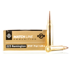 Image For 20 Rounds Of 75 Grain HPBT Boxer Brass 223 Rem Prvi Partizan Ammunition