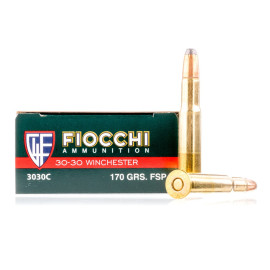 Image For 20 Rounds Of 170 Grain FSP Boxer 30-30 Fiocchi Ammunition