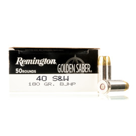 Image For 500 Rounds Of 180 Grain JHP Boxer Nickel-Plated Brass 40 Cal Remington Ammunition