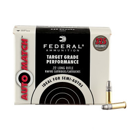 Image For 3250 Rounds Of 40 Grain LRN Rimfire Brass 22 LR Federal Ammunition
