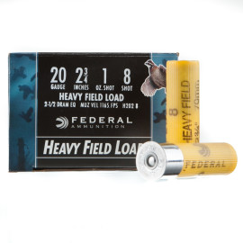 Image For 250 Rounds Of 1 oz. #8 Shot 20 Gauge Federal Ammunition