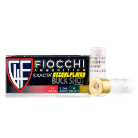Image For 10 Rounds Of #00 Buck Nickel-Plated Steel 12 Gauge Fiocchi Ammunition