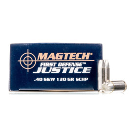 Image For 20 Rounds Of 130 Grain JHP Boxer Nickel-Plated Brass 40 Cal Magtech Ammunition
