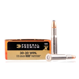 Image For 20 Rounds Of 170 Grain Nosler Partition Boxer Brass 30-30 Federal Ammunition