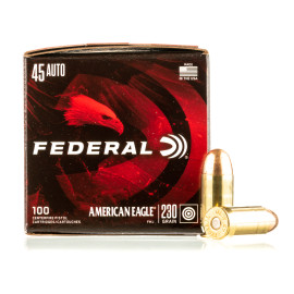 Image For 500 Rounds Of 230 Grain FMJ Boxer Brass 45 Auto Federal Ammunition
