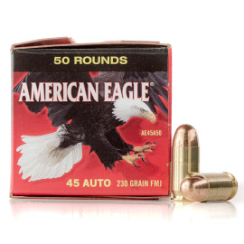 Image For 50 Rounds Of 230 Grain FMJ Boxer Brass 45 Auto Federal Ammunition