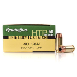 Image For 50 Rounds Of 180 Grain JHP Boxer Brass 40 Cal Remington Ammunition
