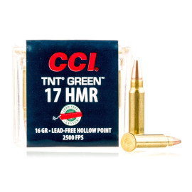 Image For 50 Rounds Of 16 Grain HP Rimfire Brass 17 HMR CCI Ammunition