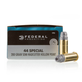 Image For 20 Rounds Of 200 Grain LSWCHP Boxer Brass 44 S&W Special Federal Ammunition