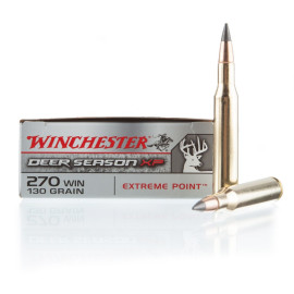 Image For 20 Rounds Of 130 Grain Polymer Tipped Boxer Brass 270 Win Winchester Ammunition