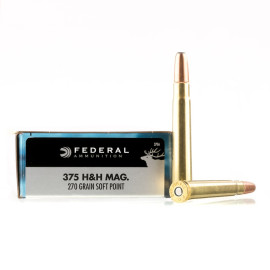 Image For 20 Rounds Of 270 Grain SP Boxer Brass 375 H&H Magnum Federal Ammunition