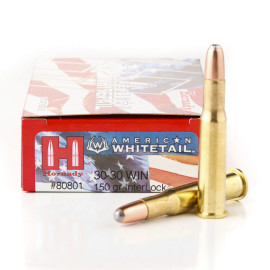 Image For 20 Rounds Of 150 Grain Round Nose Boxer Brass 30-30 Hornady Ammunition