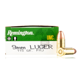Image For 500 Rounds Of 115 Grain FMJ Boxer Brass 9mm Remington Ammunition