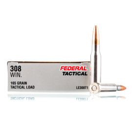 Image For 20 Rounds Of 165 Grain SP Boxer Nickel-Plated Brass 308 Win Federal Ammunition