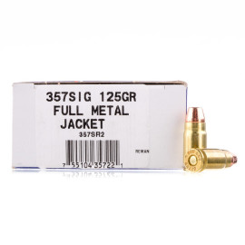 Image For 50 Rounds Of 125 Grain FMJ Boxer Brass 357 Sig Ultramax Ammunition