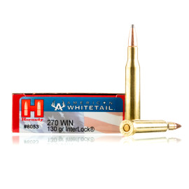Image For 20 Rounds Of 130 Grain SP Boxer Brass 270 Win Hornady Ammunition