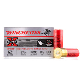 Image For 25 Rounds Of 1-1/8 oz. BB Shot 12 Gauge Winchester Ammunition
